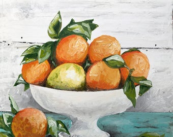 Citrus and Shiplap Printed Canvas