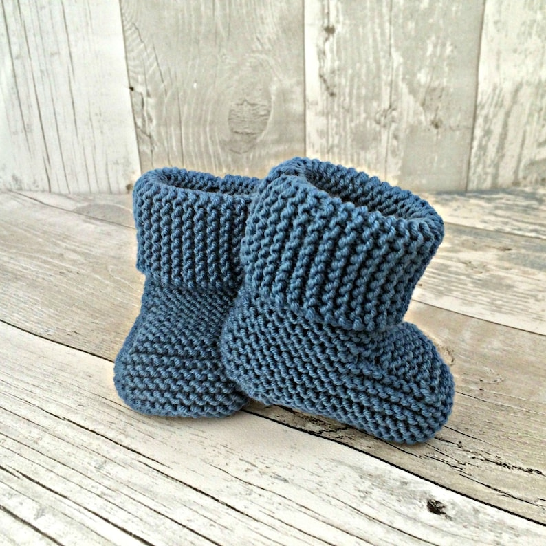 95878bbad4b Knitted Booties, Newborn Baby Boy Booties, Stay On Booties, Baby Boy  Hospital Outfit, Baby Boy Shoes, Knitted Baby Shoes, Hand Knit Booties