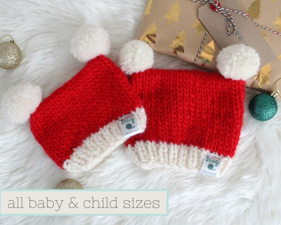 Red Teddy Bear Christmas Unisex Baby Gown Santa Hat 4 Preemie Newborn Sizes