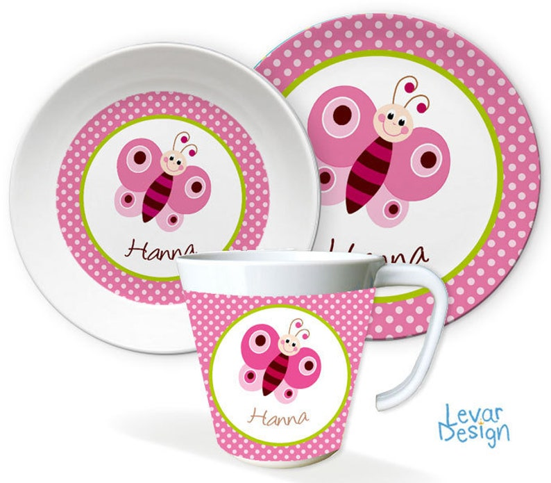 Children's Harness Children's Plate Personalized with pink