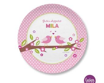 Levar Design Kinderteller mit Namen, personalisiert, BPA frei Kindergeschirr, Teller, Taufgeschenk, Geschenk Geburt, erster Geburtstag