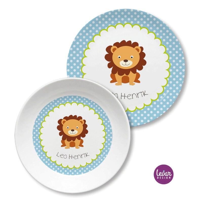 Children's Harness Children's Plate Children's Löwe hellblau