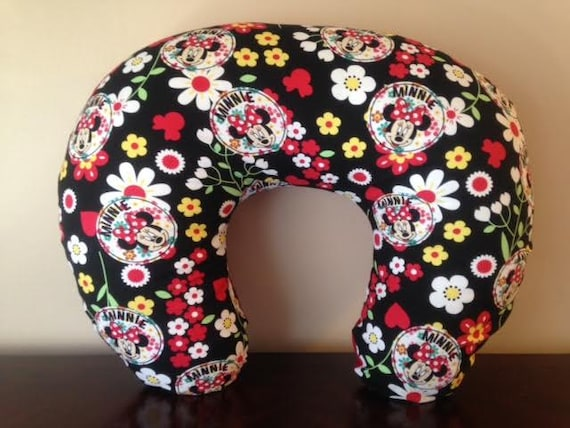 Minnie Mouse Disney Floral Bib Boppy Cover Etsy Interesting Minnie Mouse Boppy Pillow Cover