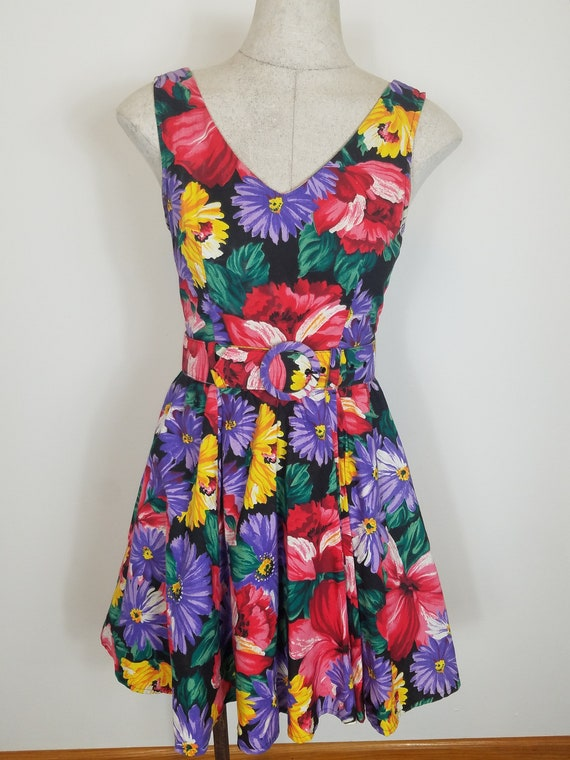 Vintage 1990s floral dress All That Jazz