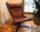 Vintage Falcon Lounge Chair Sigurd Ressell Vatne Mobler Mid Century Modern Norwegian Scandinavian Danish Bentwood - Shipping NOT Free