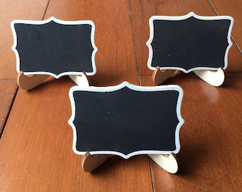 10 Mini Chalkboard Table Signs Chalkboard Buffet Labels, Stands, Chalkboard Table Numbers, Cheese Markers Wedding Party Birthday Party