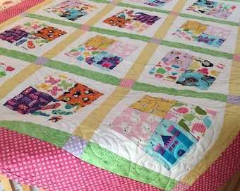 Square quilt pattern etsy ispy tilted square quilt pattern 2 pdf patternssizes included quick and easy great for precuts charm packs layer cakes jelly rolls fandeluxe Image collections