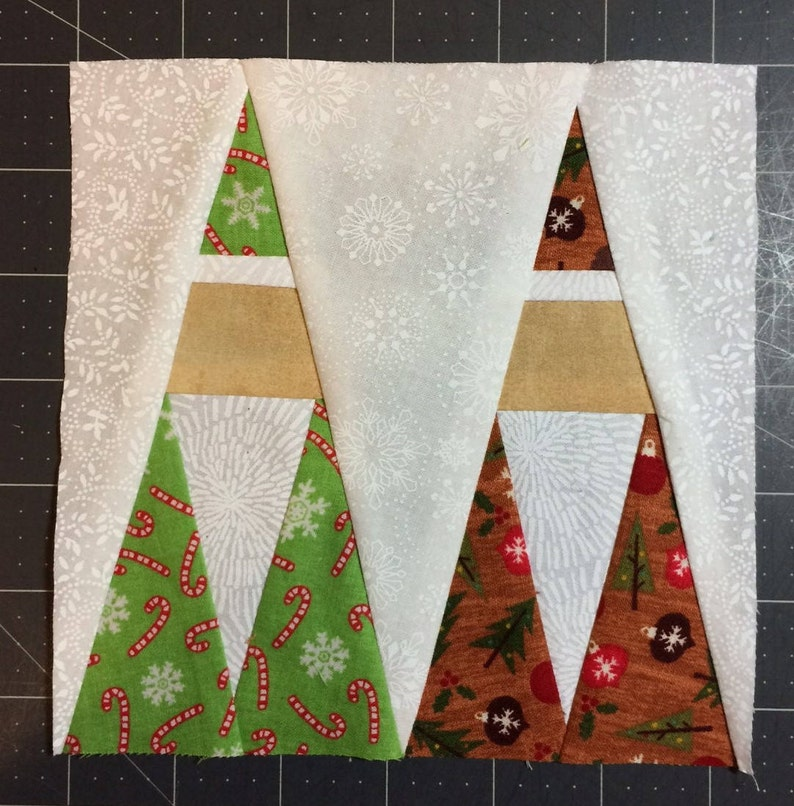Christmas Quilt Pattern Paper-pieced Instant Download PDF