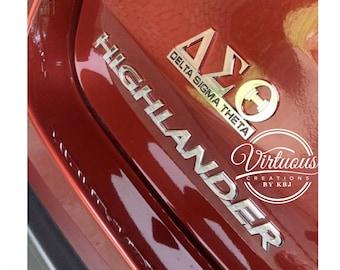 Delta Sigma Theta Car Sticker Semi-permanent