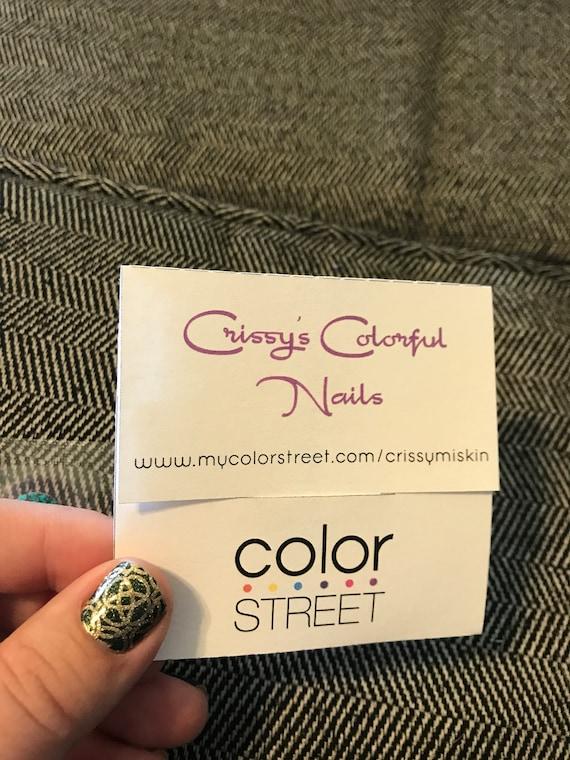 Thumb cut business card holder