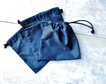 Set of 3 Authetic Chanel bags for cosmetic/ New/Craft supply/ Chanel Cosmetic bag/