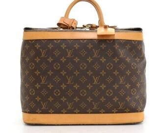 496e9cc27fcdb Louis Vuitton Cruiser 40 Luggage Tag Handle Grip Monogram Brown Travel Bag