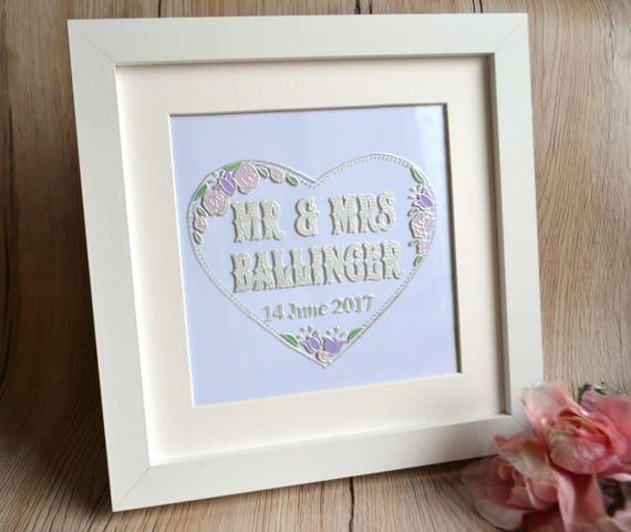 Personalised wedding frame wedding date sign framed wedding   Etsy