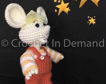 Topo Gigio Inspired Crochet Doll/Figure/Plush