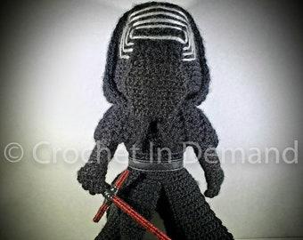 Star Wars Kylo Ren Inspired Crochet Doll/Figure/Plush