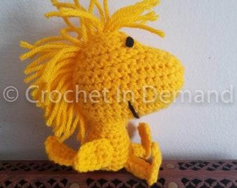 Peanuts Woodstock Inspired Crochet Doll/Figure/Plush