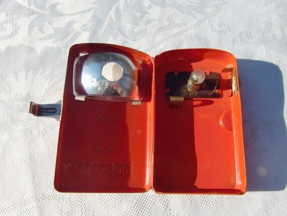 Leclanche Vintage Francais 1960 Lampe De Poche Orange Poche Clair