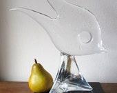 Large MURANO Licio ZANETTI Fine Art Glass Fish Sculpture- Signed Licio Zanetti.