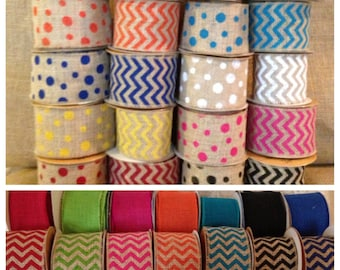 WIRED 63MM WIDE SILVER STRIPED RIBBON