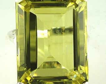 925 Rose Vermeil MQ Lemon Quartz Cubic Zirconia Ring