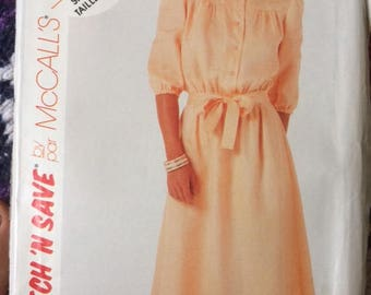 Vintage 1980s McCalls Stitch and Save Pattern 2903 Women's Career Dress Sizes 10-12-14