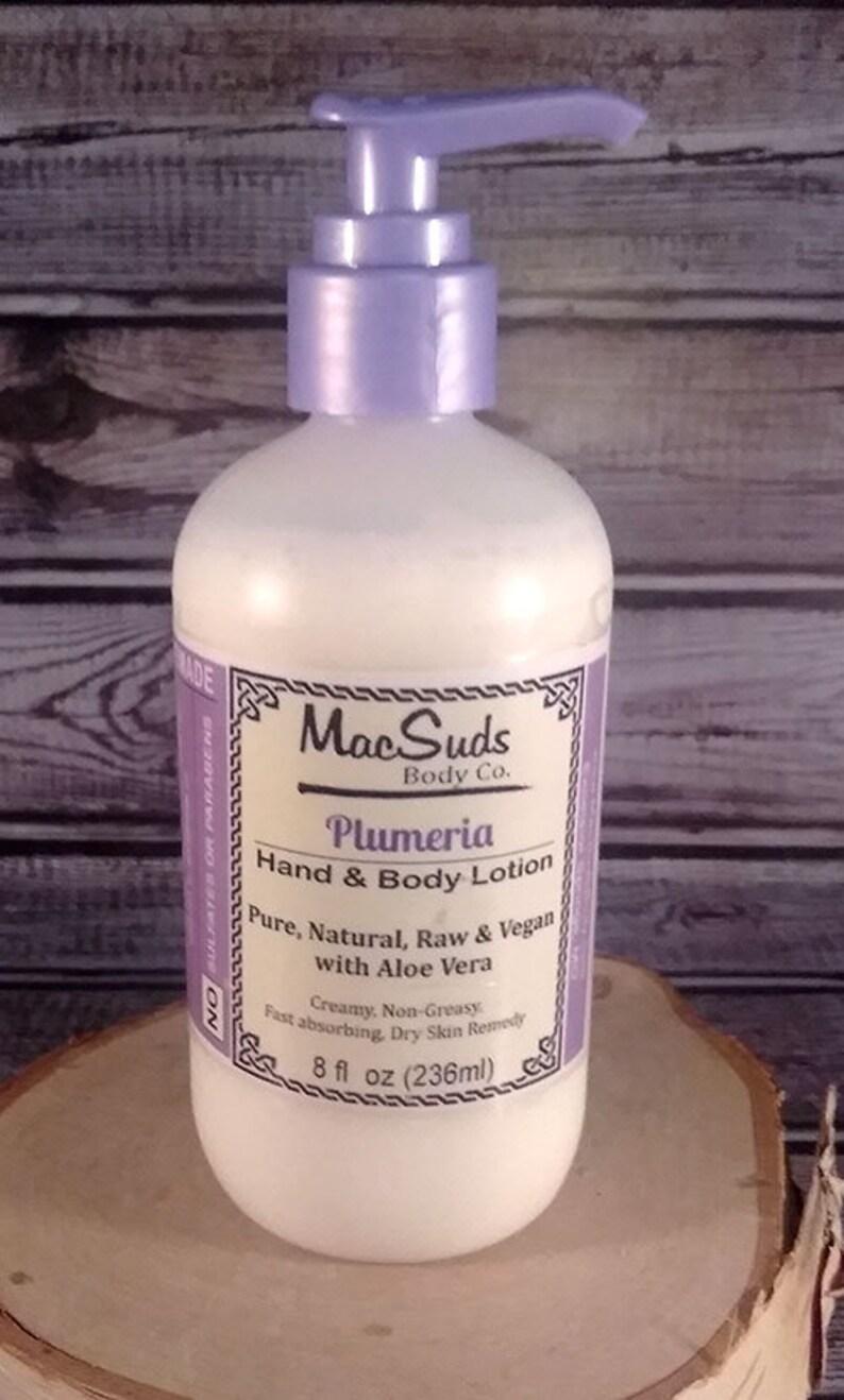 Plumeria Lotion 8oz Milk Lotion Rough Skin Natural Dry image 0