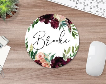 Personalized mousepad, custom mouse pad, printed mouse pad, minimalist mouse pad, mouse pad, feminine mouse pad, mouse pad gift college gift