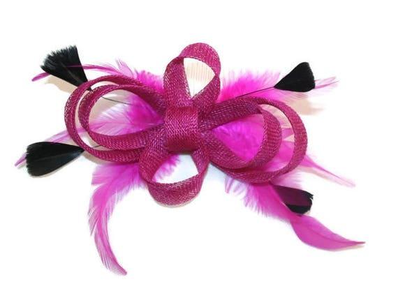 9e6140792b3db Pink Fascinator Cerise Fascinator Black   Pink Fascinator