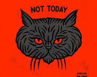 Persian cat in a bad mood, art print