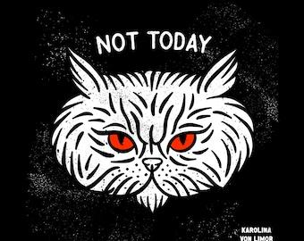 Tribal Retro Cat Art print