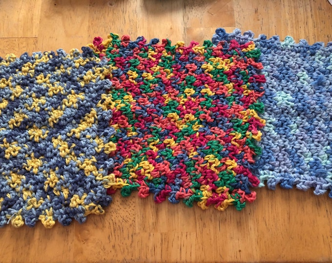 Knobby stitch washcloth,scrunchy