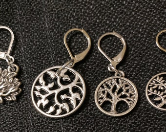Tree of life progress keepers, stitch markers