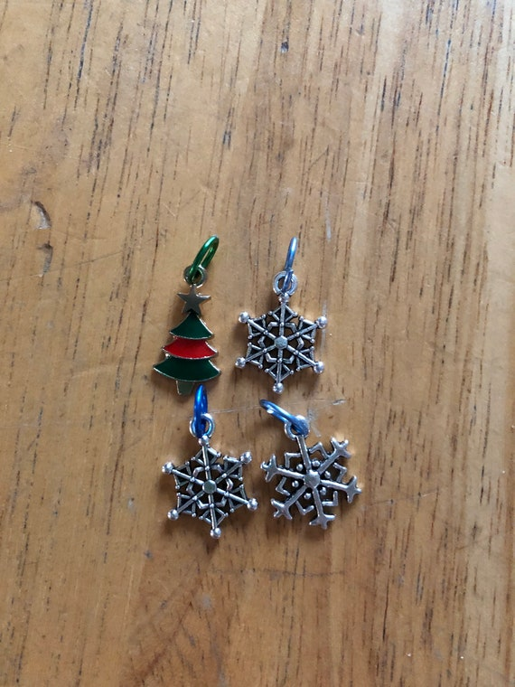 holiday stitch markers, Christmas stitch markers
