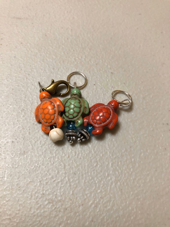 Turtle stitch markers ,progress keepers
