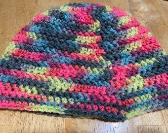 Crochet hat, beanie, herringbone stitch beanie, adult size beanie, unisex beanie