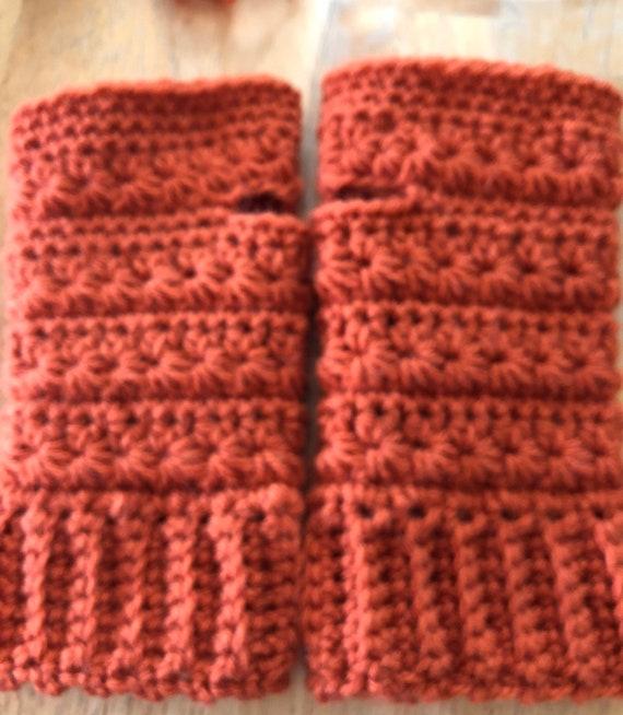 Pumpkin fingerless mitts,star stitch fingerless mitts, crochet fingerless mitts