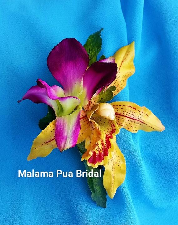 Tropical hair flowers silk flowers hair clip wedding etsy image 0 mightylinksfo