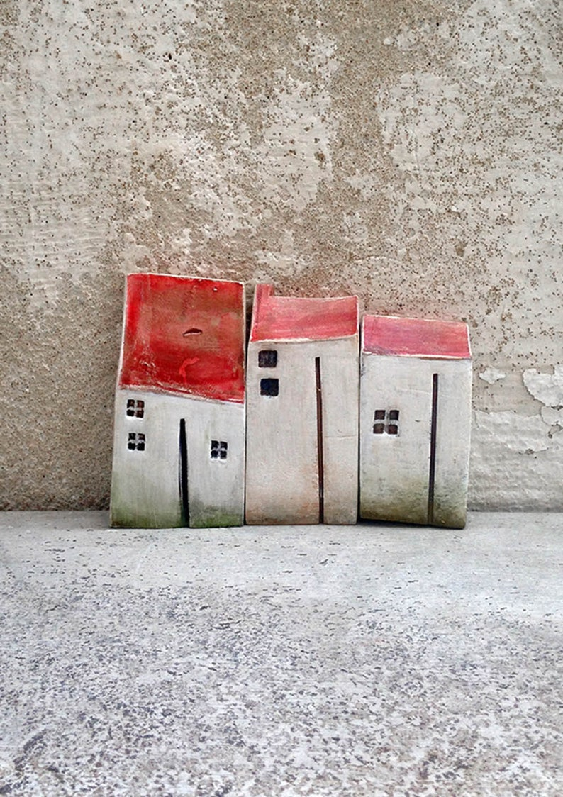 Gift Ideas Christmas Ceramic Houses Birthday Miniature Housescl