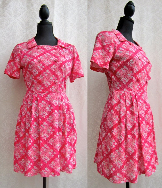 Reworked Vintage 60's Tea Dress Turned Double Brea