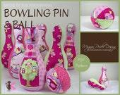 Bowling Pin Ball soft toy game sewing e-Pattern