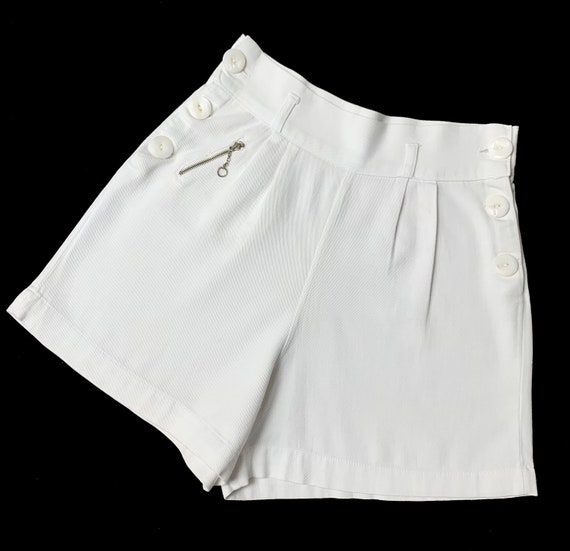 1930s 1940s Sailor Style Tennis Shorts with tiny … - image 5