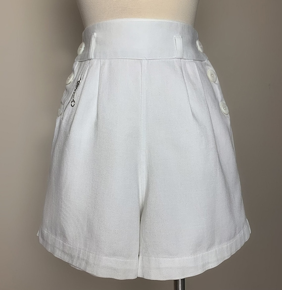 1930s 1940s Sailor Style Tennis Shorts with tiny … - image 4