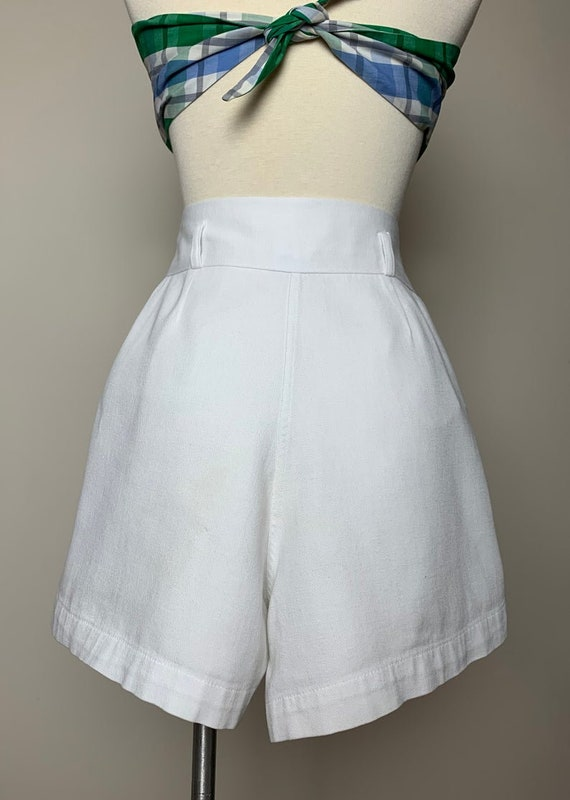 1930s 1940s Sailor Style Tennis Shorts with tiny … - image 3