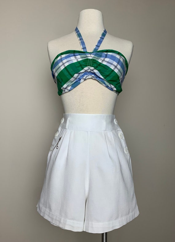 1930s 1940s Sailor Style Tennis Shorts with tiny … - image 2