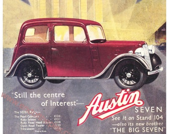 Austin Seven A3 print reproduced from Light Car magazine 1937