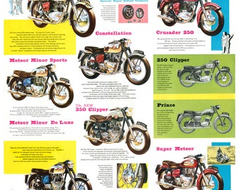 Royal Enfield poster reproduced from the original 1959 range  brochure
