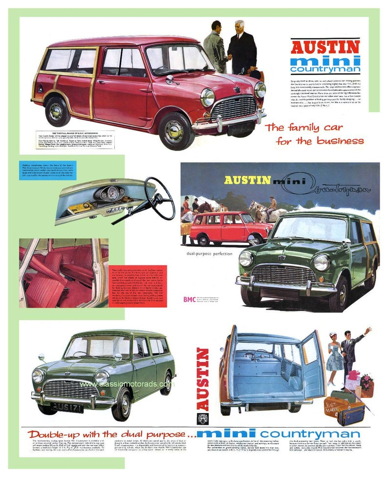Classic Austin Mini Traveller poster reproduced from the image 0