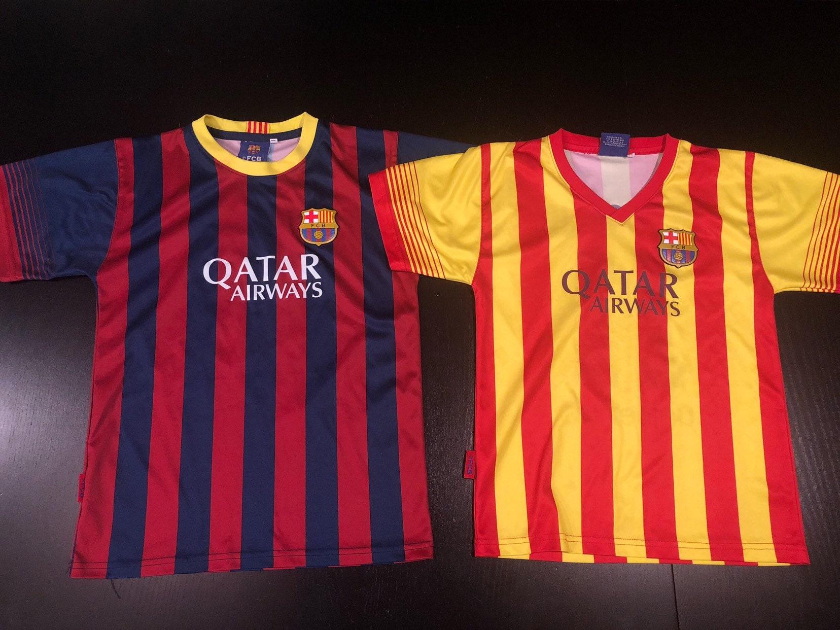 1ec174107a8 Barcelona Qatar Airways Messi   Neymar Jr. Soccer Youth Jersey