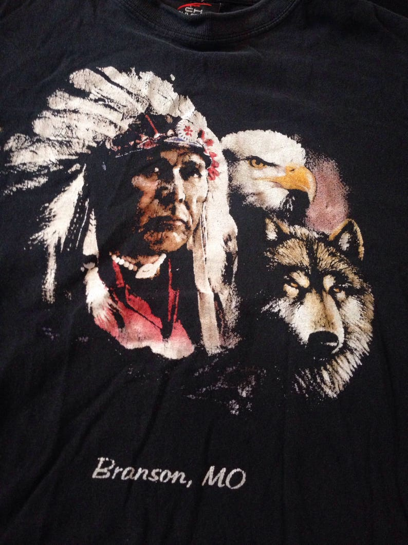 260c918b Native American Bald Eagle Wolf Tourist Destination Branson MO | Etsy