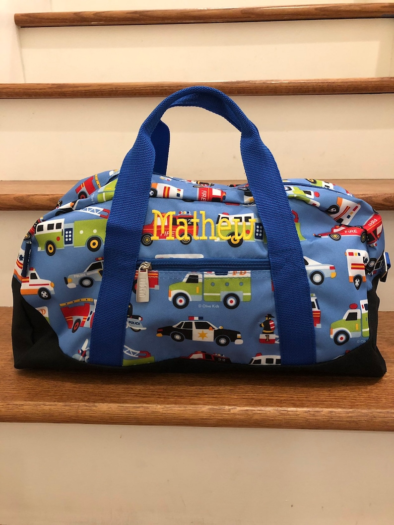 1ed75dc8f58b Kids Duffle Bag Boys Truck Birthday Party Gift Bags Personalized Baby Boy  Gifts for Toddler Boy Tote Bag